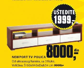 TV-Polica Newport, 160x40x34cm