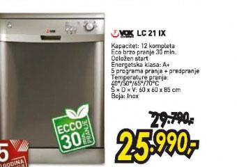 Sudomašina LC 21 INOX
