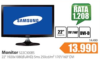 Monitor LED LCD S22C300BS
