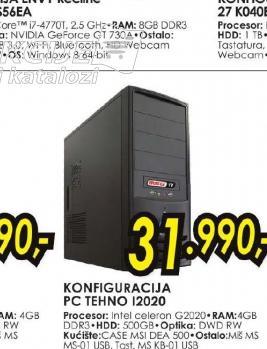 Konfiguracija PC TEHNO I2020
