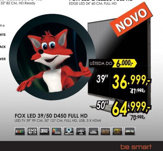 Televizor LED LCD 39D450 FHD