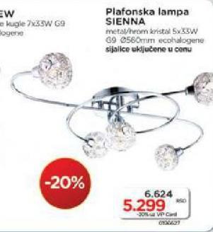 Plafonska lampa Siena
