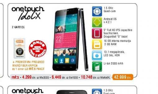 Mobilni telefon  OT6040 Idol X