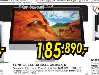 Konfiguracija iMac ME087Z/A