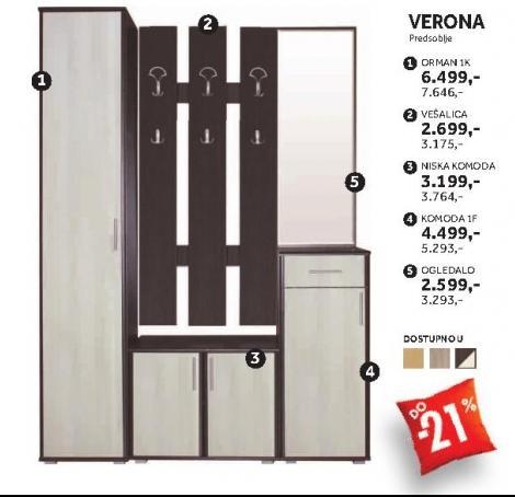 Element predsoblja Komoda 1f Verona