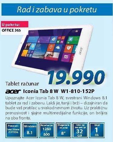 Tablet Iconia Tab 8 W1-810-152P
