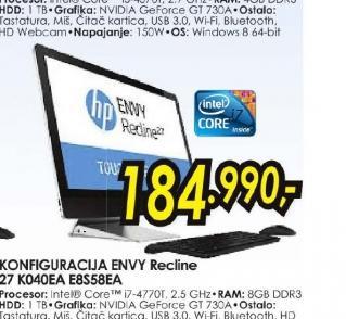 Konfiguracija ENVY Recline 27-k040ea E8S58EA