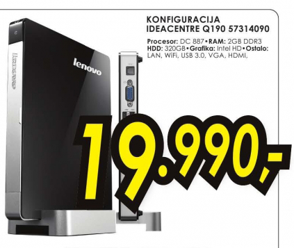 Desktop računar konfiguracija IdeaCentre Q190 57314090