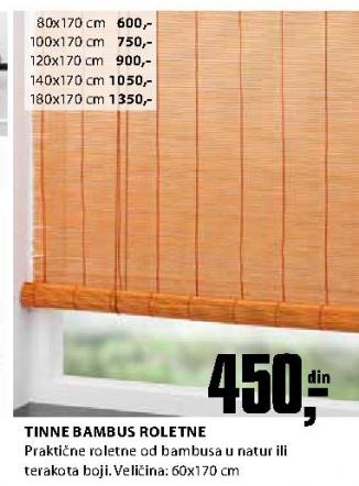Bambus roletna Tinna 180x170 cm