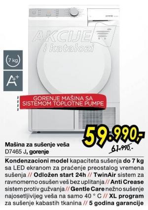 Mašina Za Sušenje Veša D7465J