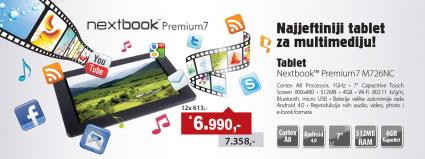Tablet  Nextbook Premium7 M726NC