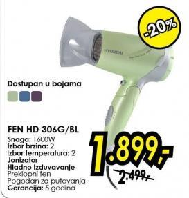Fen za kosu Hd 306g/bl