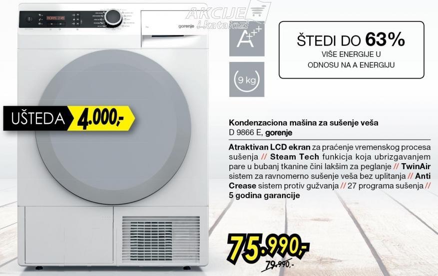 Mašina za sušenje veša D9866 E