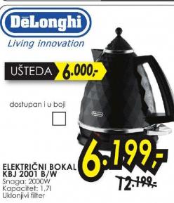 Električni bokal KBJ 2001 B/W