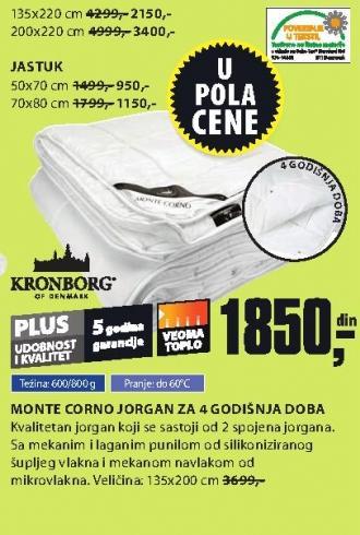 Jorgan Monte Corno za 4 godišnja doba 135x200