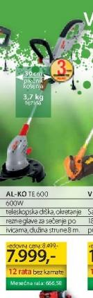 Električni trimer za travu TE 600 ALKO