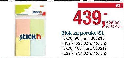 Blok za poruke SL