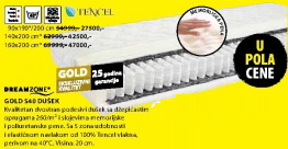 Dušek Gold S40, 90x190/200cm