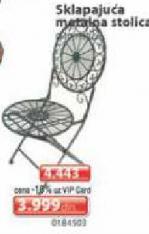 Sklapajuća metalna  stolica