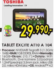 Tablet Excite AT10-A-104