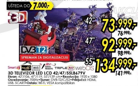"""Televizor LED 42"""" 3D 42lb679v"""