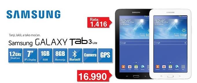 Tablet Galaxy Tab3 Lite