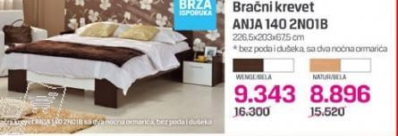 Bračni krevet Anja 140 2N01B