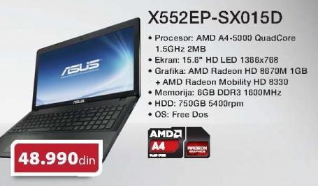 Laptop X552ep-Sx015d