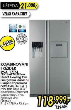 Kombinovani frižider Rsa 1ztsl