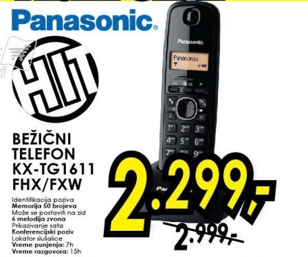 Bežični telefon KX-TG1611FHX/FXW