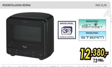 Mikrotalasna rerna MAX 35/BL