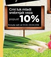 10% popusta na mladi crni luk Srebrnjak