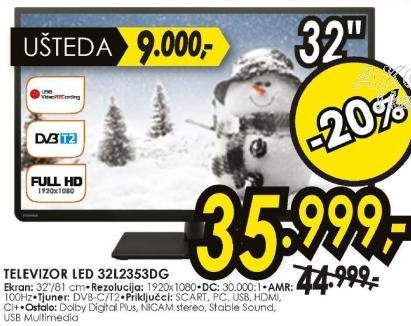 Televizor  LED LCD 32L2353DG