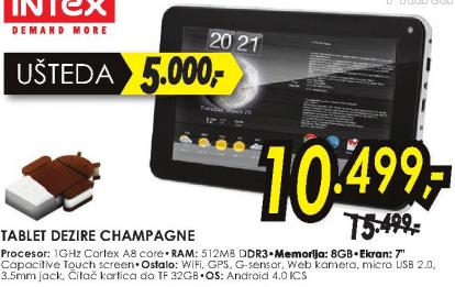 Tablet DEZIRE CHAMPAGNE