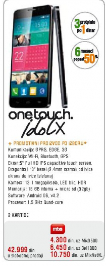 Telefon mobilni One Touch 8000D Scribe Easy