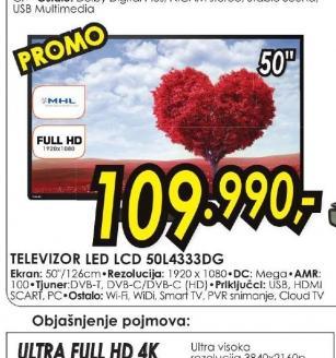 Televizor LED 50L4333DG