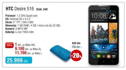 Mobilni telefon Desire 516
