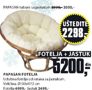 Jastuk za fotelju Papasan