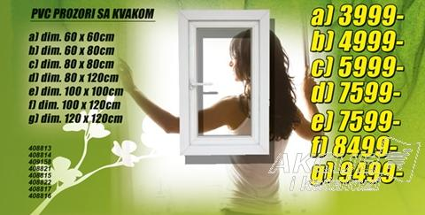 Prozor PVC 100x100