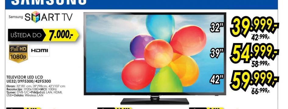 Televizor LED LCD UE-39F5300