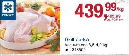 Smrznuta ćurka grill