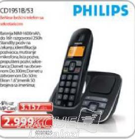 Bežični telefon CD1951B/53