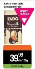 Čokolada za kuvanje Fado