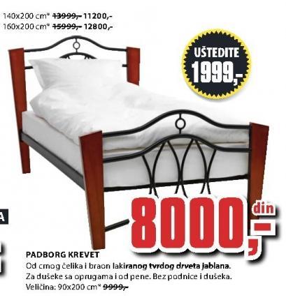 Krevet Padborg 90x200 cm