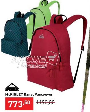 Školski ranac Vancouver, McKinley