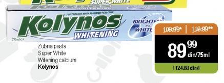 Pasta za zube Whitening calcium