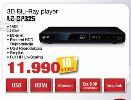 Blu-rey 3D plejer Bp325