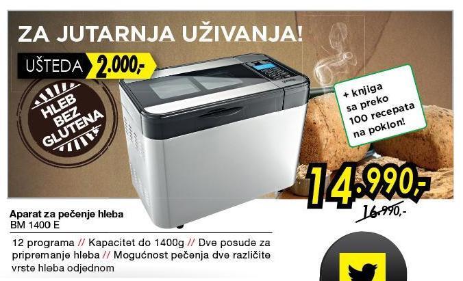 Mini pekara Bm 1400E
