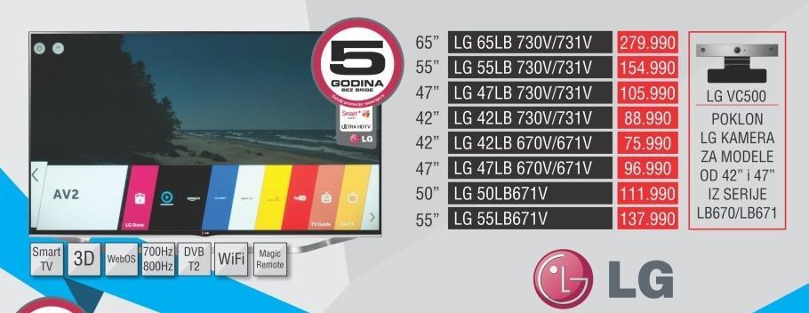 """Televizor LED 47"""" 3D 47lb730v"""