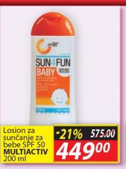 Losion za sunčanje za bebe SPF 50
